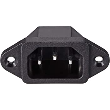 uxcell C8 Panel Mount Plug Adapter AC 250V 2.5A 2 Pins IEC Inlet Module Plug Power Socket Straight Pack of 7