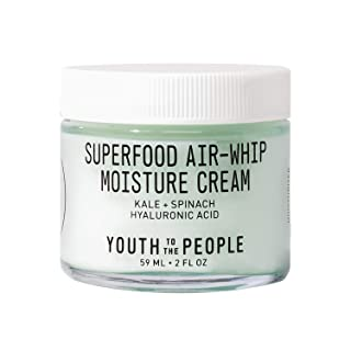 Youth To The People Superfood Air-Whip Moisture Cream - Hyaluronic Acid + Green Tea Moisturizer - Vegan Gel Cream Ideal fo...