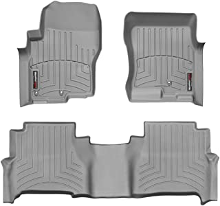 WeatherTech Custom Fit FloorLiner for Nissan Frontier -1st & 2nd Row (Grey)