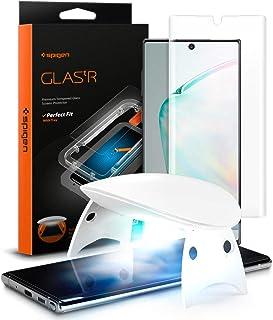 Spigen, 1 pack, Samsung Galaxy Note 10 skärmskydd, glas.tR platinum, flytande UV härdat glas, ultraljuds fingeravtryck kom...