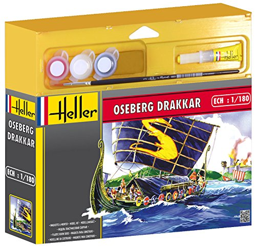Heller Junior 49056 Oseberg Drakkar - Maqueta, diseño de Barco de Oseberg