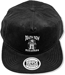 Death Row Records Adult Unisex Logo Embroidery Flat Bill Snap Back Corduroy Hat