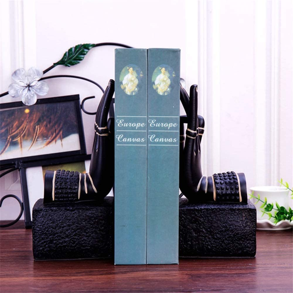 YASEKING Modern Minimalist Black Resin Department store She Bookend Palm Magazine Attention brand