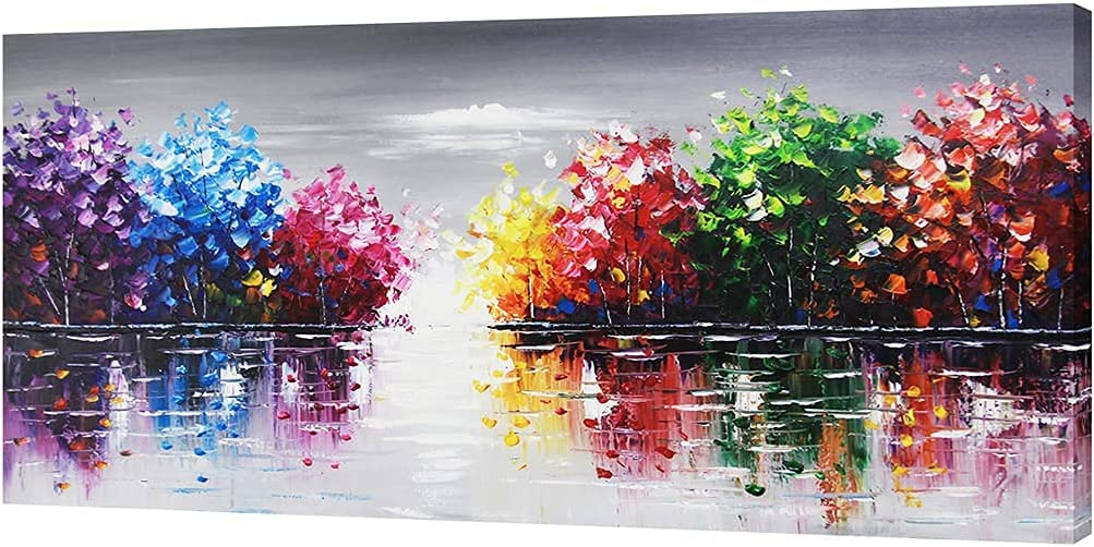 Excellent Gormod Art-100% Hand-Painted Oil Painting Li Color Lake Abstract Ranking TOP11