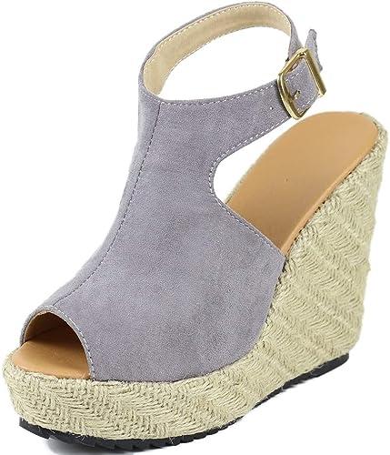 HommesGLTX Nouvelle Marque Marque Marque d'été Chaussures compensées Mode Grande Taille 43 Sandales Chaussures Femmes élégantes Chaussures Femme Sandales à Talons Hauts ed2