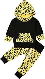 mettime Newborn Baby Girl Hooded Sweatshirt & Leopard Pants Infant Hoodies Coat Jackets Outfits