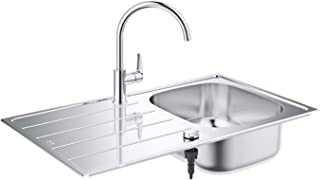 GROHE | Bau Set aus K200 Spüle und Bau Edge Küchenarmatur | edelstahl | 31562SD1