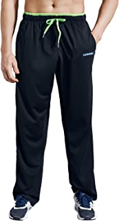 Men's Sweatpants with Pockets Open Bottom Athletic Pants for Jogging, Workout, Gym, Running, Training