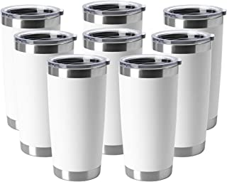 HASLE OUTFITTERS 20oz Tumblers Stainless Steel Mugs with Lid Double Wall Vacuum Insulated Coffee Cups for Cold & Hot Drink...