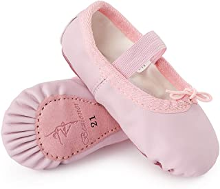 iGirldress Girls Ribbon Ankle Tie Matte Mary Jane Ballerina Flats Shoes 9 Toddler-4 Kids