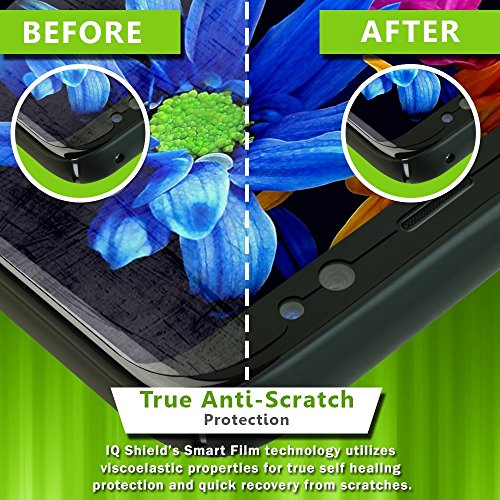 IQ Shield Screen Protector Compatible with Galaxy S8 5.8 inch (2017)(2-Pack)(Case Friendly)(Updated Version) Anti-Bubble Clear Film