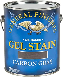 General Finishes Oil Base Gel Stain, 1 Gallon, Carbon Gray