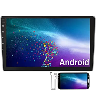 Camecho Android Double Din Car Stereo 10.1'' HD 2.5D Touch Screen GPS Navigation Radio Bluetooth FM Player Support Android/iOS Phone Mirror Link with WiFi/AUX/Dual USB/Backup Camera Input (10.1 inch)