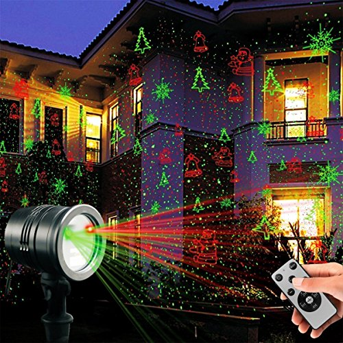 Colleer Proiettore Stella Lampada LED a Scena Luci Dinamico Impermeabile IP65 per Esterno Giardino Decorazione Party Festa Halloween Natale