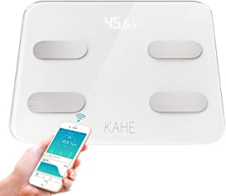 体重計 体脂肪 体組成計 高精度 体重/筋肉量/BMIなど20項健康測定可能 強化ガラス採用 iOS/Androidアプリで健康管理 Bluetooth対応 ヘルスケア同期 日本語対応&取扱説明書付き