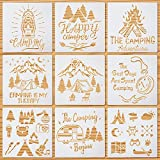 9 Pieces Camp Drawing Stencils Camp Theme...