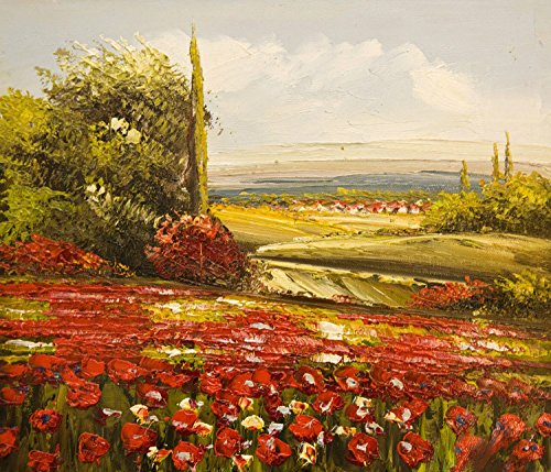 Real Hand Painted Tuscany Italy Landscape Canvas Oil Painting for Home Wall Art Decoration, Not a Print/ Giclee/ Poster
