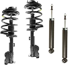 DTA 70137 Full Set 2 Front Complete Strut Assemblies With Springs and Mounts + 2 Rear Shocks 4-pc Set Fit 2003-2007 Nissan Murano