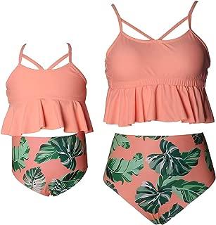 Uhnice Girls Swimsuits Two Piece Bikini Set High Waisted Swimwear Bathing Suits