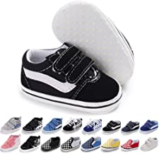 Meckior Newborn Infant Baby Girls Boys Sequin Canvas Sneakers Soft Anti-Slip Sole High Top Ankle Unisex Toddler First Walk...