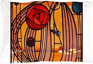CafePress Charles Rennie Mackintosh Stained Glass Pillow Cas Standard Size Pillow Case, 20