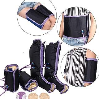 JSBVM Masajeador de Aire de compresión de piernas con Controlador de Mano 9 Modos para Elimina el Edema Promueve la circulación sanguínea Elimina la Fatiga