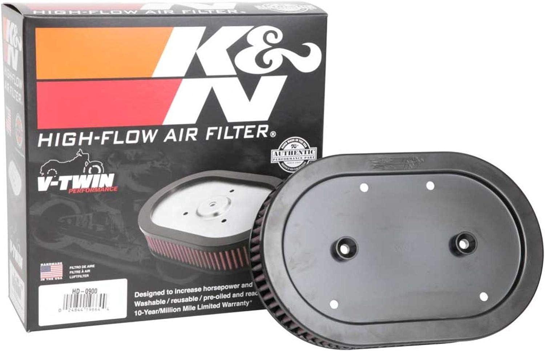 K&N Engine Air Filter: High Performance, Premium, Powersport Air Filter: Fits HD-0900