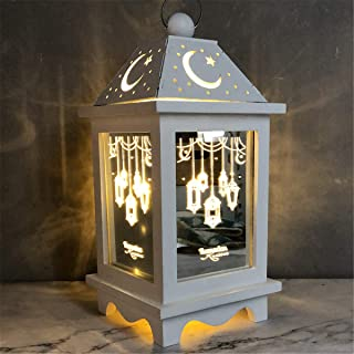 Saweky Wooden Plaque Ornament Hand-made solid wood grinding Wood Slice Gift Decoration for Eid Al Adha Mubarak Ramadan Fes...