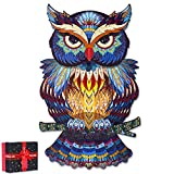 🎄UNIQUE DESIGN:The owl wooden puzzle consists of two hundred pieces of puzzles, including a variety of small animal-shaped Fragments 🎄SIZE: The final size of this wooden puzzle consisting is 7.9X13 inches 🎄FINE DECORATIVE: The owl puzzle has a novel ...
