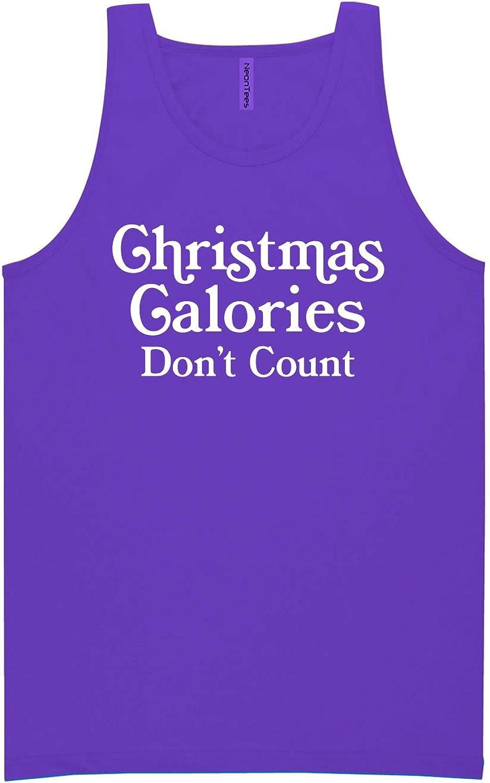 zerogravitee Christmas Calories Don't Count Neon Purple Tank Top - XX-Large