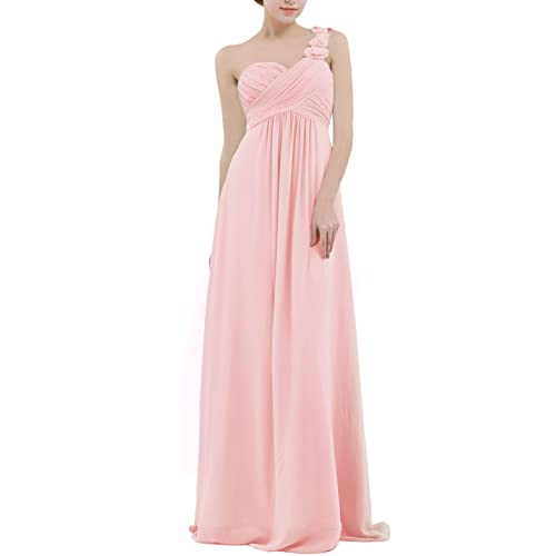 cac8a4dc6d25 CHICTRY Women's Chiffon One-Shoulder Evening Prom Gown Wedding Bridesmaid  Long Dress