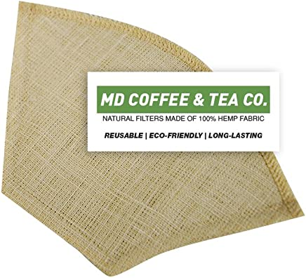 Hemp Coffee Filter 2,  Reusable Coffee Filter,  Saves Money,  Taste Better & Reduces Waste – All Natural Organic Coffee Filters,  Pour Over Coffee Filter,  V60 02 Style Unbleached Dripper Filter