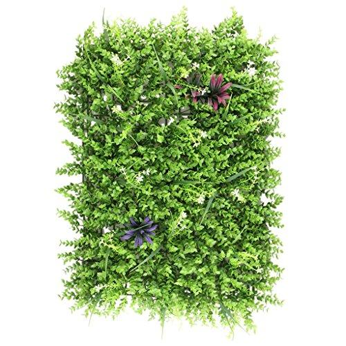 TOOGOO 60 x 40cm Panel de Pared Artificial del cesped Artificial del Prado para el Ornamento de la Boda o del hogar - 2#