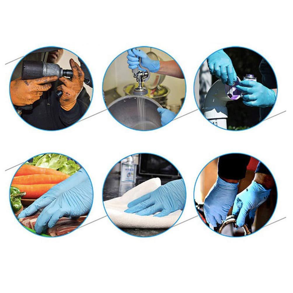 Exceart 50 Piezas Guantes de Nitrilo Desechables Guantes de Examen M/édico Guantes Multiusos para Uso M/édico Limpieza Trabajo Cocina Lavado Talla S Azul
