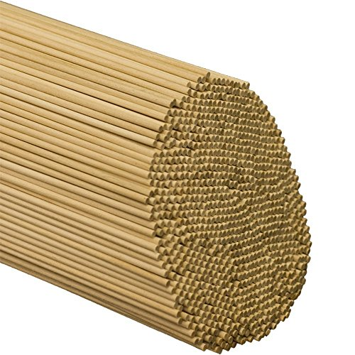 Woodpeckers 100 Pieces Wooden Dowel Rods Unfinished Hardwood Sticks for Crafts and DIY