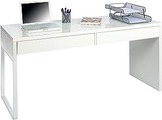 Habitdesign 002315A - Mesa Escritorio Mesa de despacho Dos cajones messa de Ordenador Color Blanco Artik Modelo Touch ...