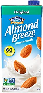Almond Breeze Dairy Free Almondmilk, Original, 32-Ounce Boxes (Pack of 12)