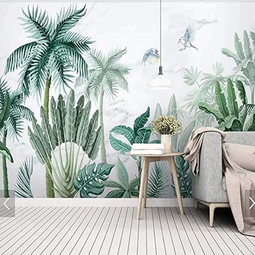 Fotobehang, muursticker, tropisch palmbladeren, behang, fotobehang, decoratief behang, doe-het-zelver, regenwoud, groene plant, blad fotobehang_250 cm (w) x160 cm (h)(8'2
