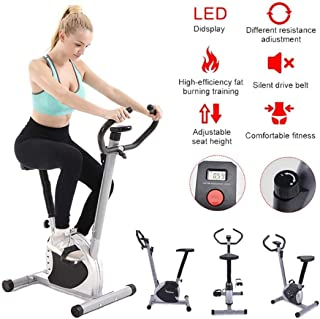 BH Exercise Bike for Men Women, Home Gym Cycling Trainer, Portable Cardio Fitness Training Stethoscope Indoor Exercise Bike with Adjustable Resistance, Digital Display