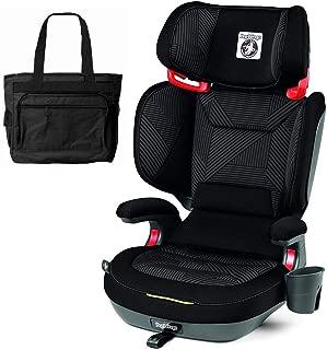 Peg Perego 2-in-1 Viaggio Shuttle Plus 120 Booster Car Seat with Bonus Diaper Bag - Graphite