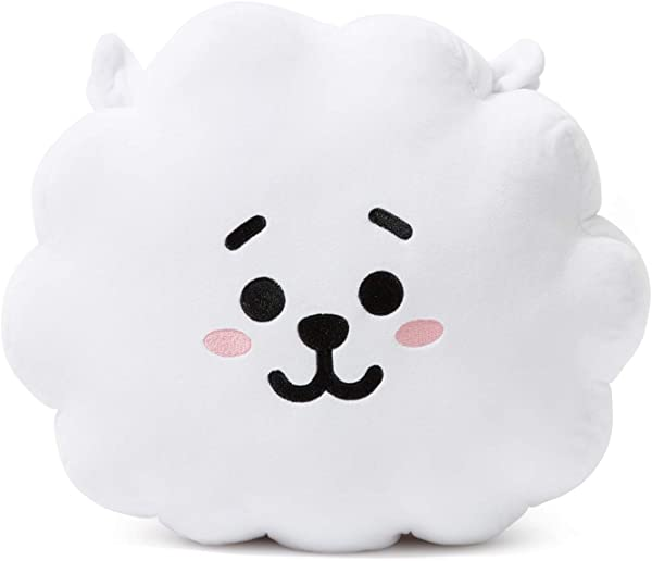 BT21 Official Merchandise By Line Friends RJ Decorative Throw Pillows Cushion 11 Inch