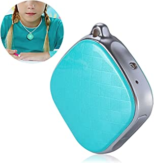 Bewinner GPS Necklace Tracker for Kids,GPS + LBS + Wi-Fi Positioning,GPS Intercom Tracker Support SOS Call/History Track/E...