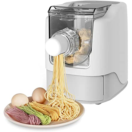 Razorri Electric Pasta and Ramen Noodle Maker - Make 1 Pound of Homemade Noodles in 10 Minutes or Less - 13 Noodle Shapes to Choose - Make Spaghetti, Fettuccine, Penne, Macaroni, or Dumpling Wrappers