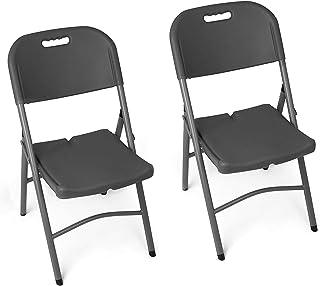 Folding Chai, Gartenstuhl in einem Satz von 2 - Klappsessel - Gartenmöbel - Stuhl geeignet für Garten, Terrasse und Balkon