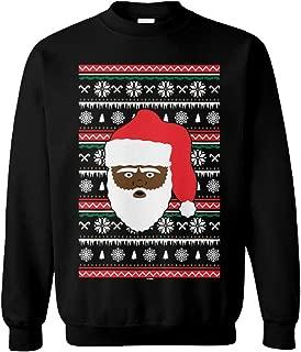 Tcombo Black Santa Claus - Xmas Ugly Christmas Party Unisex Crewneck Sweatshirt