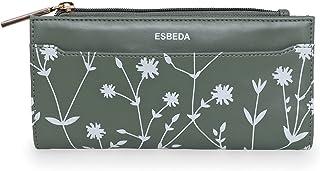 ESBEDA Olive Green Color Floral Printed Bifold Long walllet For Women