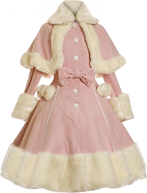 Womens Costume Max 61% OFF Dress Women's Lace Up Fur Al sold out. Faux Princess Warm Dre