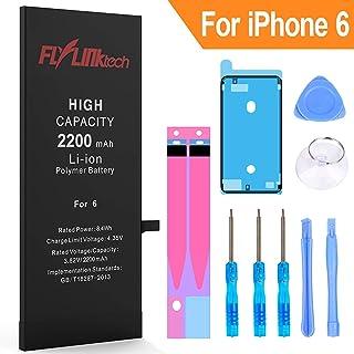 Batería para iPhone 6 2200mAH Reemplazo de Alta Capacidad, FLYLINKTECH Batería con 22% más de Capacidad Que la batería Original y con Kits de Herramientas de reparación, Cinta Adhesiva