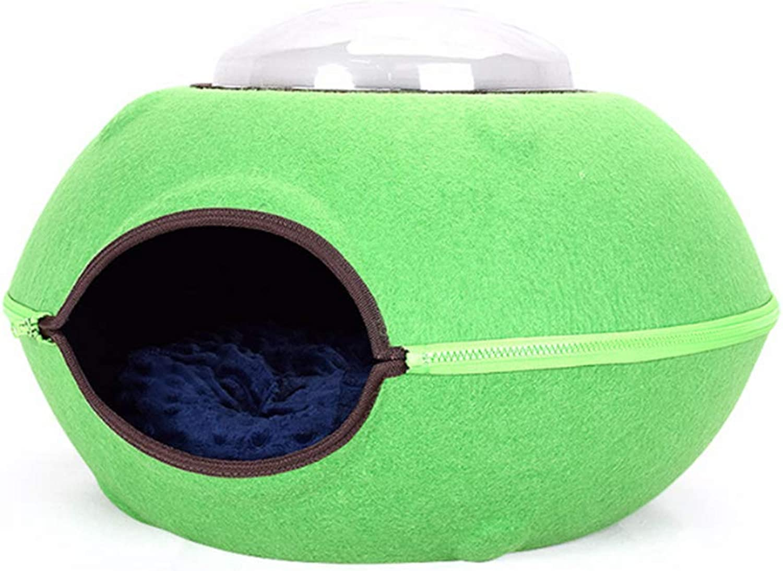 Cat Bed Cave Pets Nest Dog Sleeping House Felt UFO Shape For Small Animals