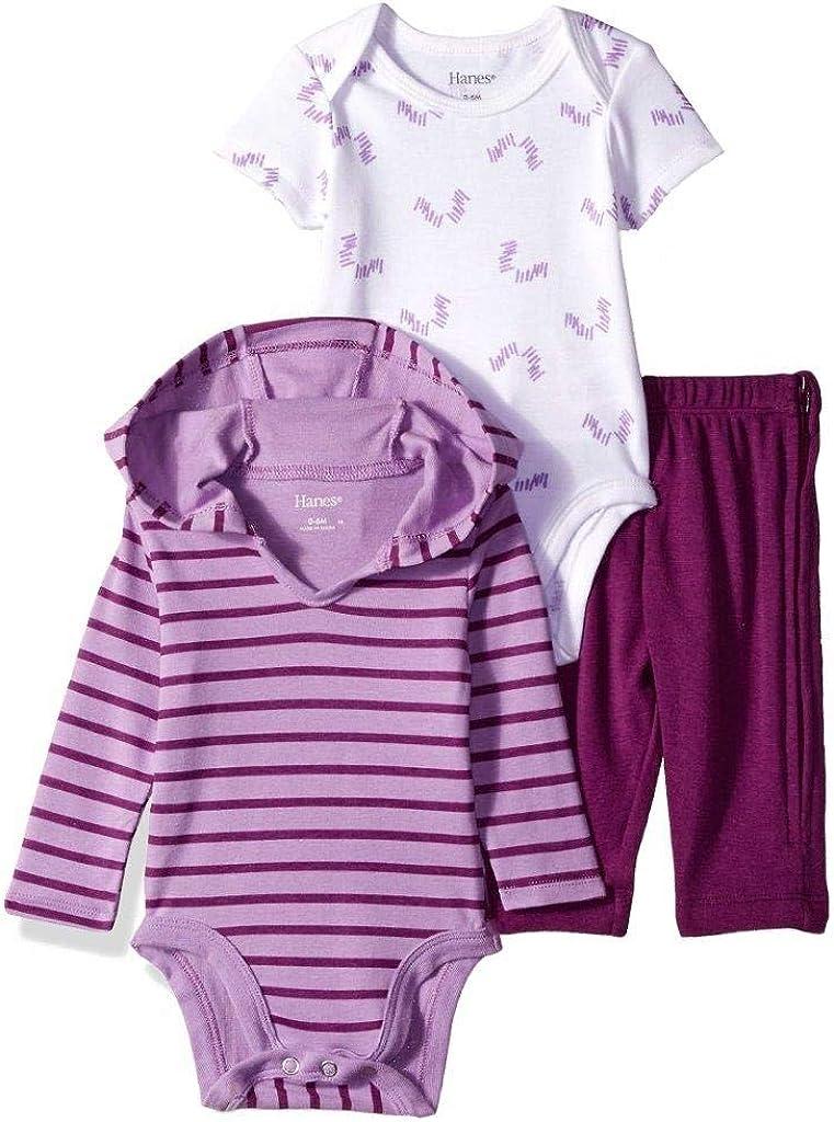 Hanes Ultimate Baby Zippin Pants, Short Sleeve Hoodie Bodysuit Set
